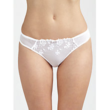 Buy John Lewis Valentina Embroidered Bikini Briefs, White Online at johnlewis.com