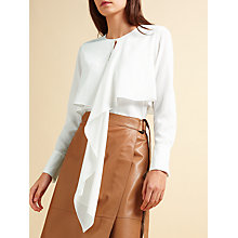 Buy Modern Rarity Drape Front Top, Ivory Online at johnlewis.com