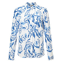 Buy Somerset by Alice Temperley Dahlia Double Pocket Shirt, Blue Online at johnlewis.com