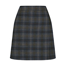Buy Oasis Brushed Check Poppy Kilt Skirt, Multi Online at johnlewis.com