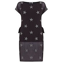 Buy Mint Velvet Star Embroidered Tunic, Grey Online at johnlewis.com