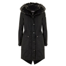 Buy Mint Velvet Waxed Parka, Black Online at johnlewis.com