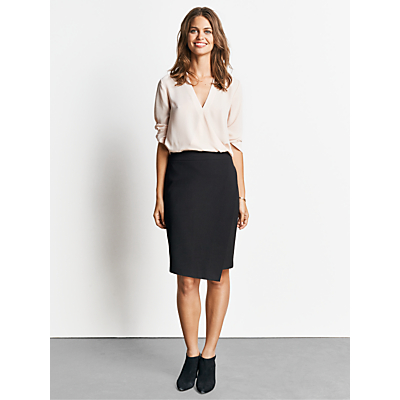 hush Asymmetric Skirt, Black