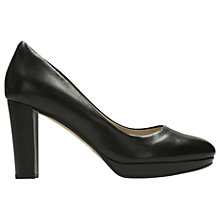 Buy Clarks Kendra Sienna Block Heeled Court Shoes, Black Online at johnlewis.com