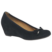 Buy Gabor Alvin Concealed Wedge Heeled Court Shoes Online at johnlewis.com