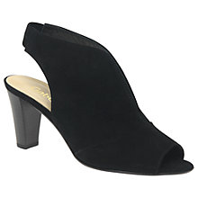 Buy Gabor Range Peep Toe Block Heeled Sandals, Black Online at johnlewis.com