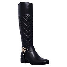 Buy MICHAEL Michael Kors Fulton Harness Knee High Boots, Black Online at johnlewis.com