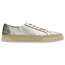 Buy Clarks Hidi Holly Lace Up Trainers, Silver Online at johnlewis.com