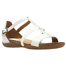 Buy Clarks Autumn Fresh Sandals, White Online at johnlewis.com