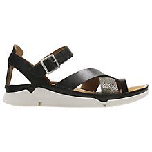 Buy Clarks Tri Ariana Cross Strap Sandals, Black Online at johnlewis.com