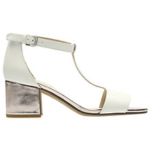 Buy Clarks Barley Belle T-Bar Sandals, White Online at johnlewis.com