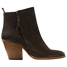 Buy Jigsaw Adyson Stack Heel Ankle Boots Online at johnlewis.com