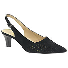 Buy Gabor Niagra Slingback Court Shoes, Black Online at johnlewis.com