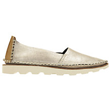 Buy Clarks Damara Closed Pumps, Gold Online at johnlewis.com