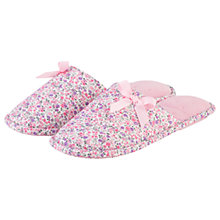 Buy Totes Floral Mule Slippers, Pink Online at johnlewis.com