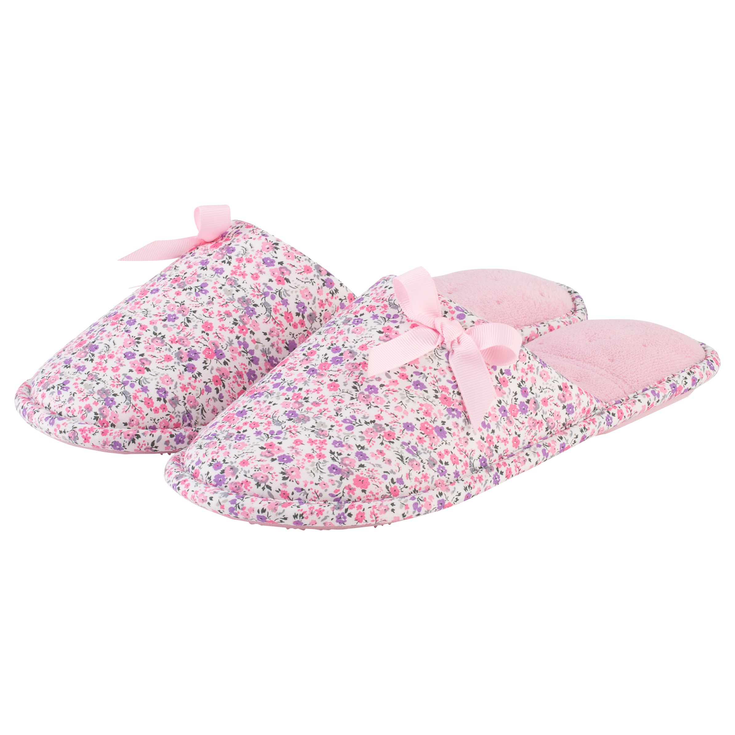 Totes Totes Floral Mule Slippers, Pink