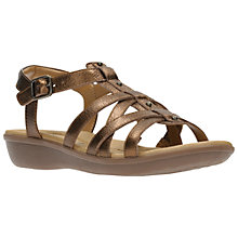 Buy Clarks Manilla Bonita Multi Strap Sandals, Bronze Online at johnlewis.com