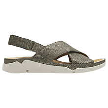 Buy Clarks Tri Alexia Cross Strap Sandals, Gold Online at johnlewis.com