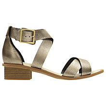 Buy Clarks Sandcastle Ray Cross Strap Sandals, Champagne Online at johnlewis.com