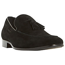 Buy Dune Rolands Suede Loafers, Black Online at johnlewis.com