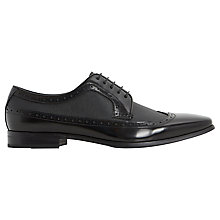 Buy Dune Rhino Saffiano Derby Brogue Shoes, Black Online at johnlewis.com