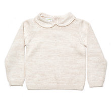 Buy Margherita Kids Girls' Lurex Knitted Daisy Collar Jumper, Gold Online at johnlewis.com
