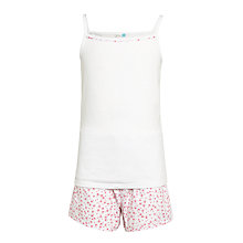 Buy John Lewis Children's Ditsy Print Short Pyjamas, Pink Online at johnlewis.com