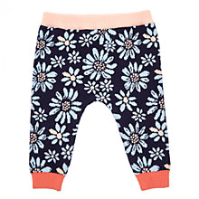 Buy Margherita Kids Baby Flower Jacquard Trousers, Blue Online at johnlewis.com