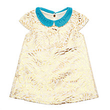 Buy Margherita Kids Baby Brocade Dress, Gold Online at johnlewis.com