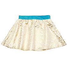 Buy Margherita Kids Girls' Brocade Skirt, Gold Online at johnlewis.com