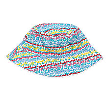 Buy John Lewis Children's Linear Floral Fisherman Hat, Multi Online at johnlewis.com