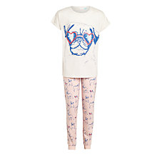 Buy John Lewis Children's Pug Placement Pyjamas, Pink Online at johnlewis.com