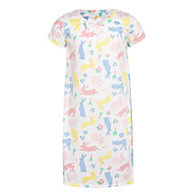 Buy John Lewis Children's Easter Bunny Nightdress, White/Multi Online at johnlewis.com