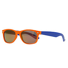 Buy John Lewis Children's Colour Block Wayfarer Sunglasses, Orange/Blue Online at johnlewis.com