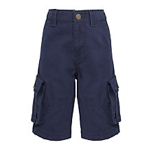 Buy John Lewis Boys' Core Cargo Shorts, Navy Online at johnlewis.com