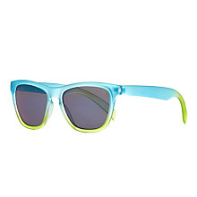 Buy John Lewis Children's Ombre Wayfarer Sunglasses, Blue/Green Online at johnlewis.com
