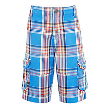 Buy John Lewis Boys' Multi Check Cargo Shorts, Blue Online at johnlewis.com