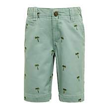 Buy John Lewis Boys' Palm Tree Embroidery Chino Shorts, Khaki Online at johnlewis.com