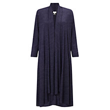 Buy East Maxi Jersey Cardigan, Sapphire Online at johnlewis.com