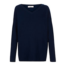Buy Hobbs Viola Jumper, French Navy Online at johnlewis.com