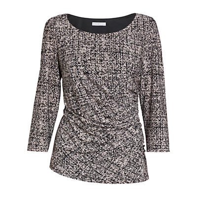 Gina Bacconi Autumn Jersey Top, Black/Cream