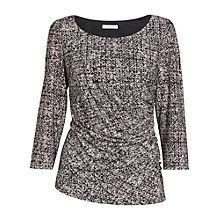 Buy Gina Bacconi Autumn Jersey Top, Black/Cream Online at johnlewis.com