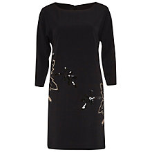 Buy Gina Bacconi Moss Crepe Cutout Dress, Black Online at johnlewis.com