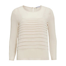 Buy Gina Bacconi Pleated Front Chiffon Top, Butter Cream Online at johnlewis.com