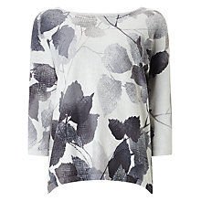 Buy Phase Eight Alcina Leaf Print Jumper, Grey Online at johnlewis.com