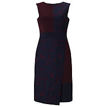 Buy Phase Eight Edith Jacquard Dress, Navy/Port Online at johnlewis.com