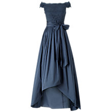 Buy Adrianna Papell Off Shoulder Lace And Taffeta Gown, Navy Online at johnlewis.com
