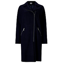 Buy Phase Eight Ricarda Zip Knitted Coat, Navy Online at johnlewis.com