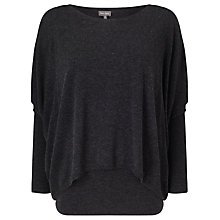 Buy Phase Eight Charley Double Layer Jumper, Charcoal Online at johnlewis.com