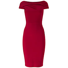Buy Adrianna Papell Off Shoulder Twisted Jersey Dress, Matador Red Online at johnlewis.com